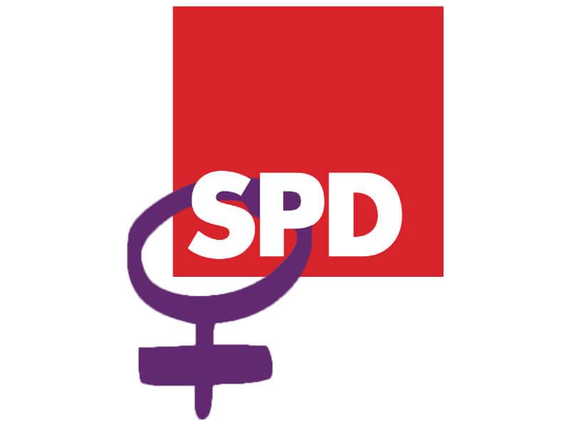 SPD Frauen Logo mit Symbol für Weiblichkeit